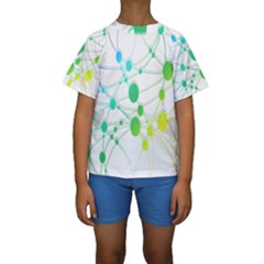 Network Connection Structure Knot Kids  Short Sleeve Swimwear