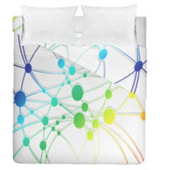 Network Connection Structure Knot Duvet Cover Double Side (Queen Size) by Nexatart