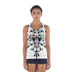 Damask Decorative Ornamental Women s Sport Tank Top  by Nexatart