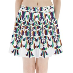 Damask Decorative Ornamental Pleated Mini Skirt by Nexatart