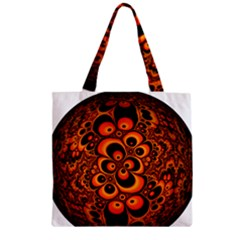 Fractals Ball About Abstract Zipper Grocery Tote Bag
