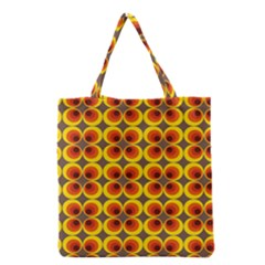 Seventies Hippie Psychedelic Circle Grocery Tote Bag by Nexatart