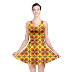 Seventies Hippie Psychedelic Circle Reversible Skater Dress