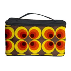 Seventies Hippie Psychedelic Circle Cosmetic Storage Case by Nexatart