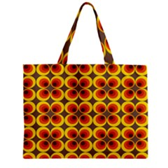 Seventies Hippie Psychedelic Circle Zipper Mini Tote Bag by Nexatart