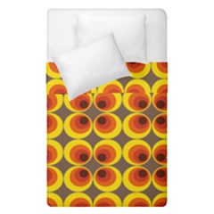 Seventies Hippie Psychedelic Circle Duvet Cover Double Side (single Size) by Nexatart