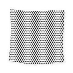 Diamond Black White Shape Abstract Square Tapestry (small) by Nexatart