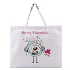 Valentine Day Poster Zipper Large Tote Bag by dflcprints