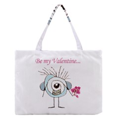 Valentine Day Poster Medium Zipper Tote Bag by dflcprints
