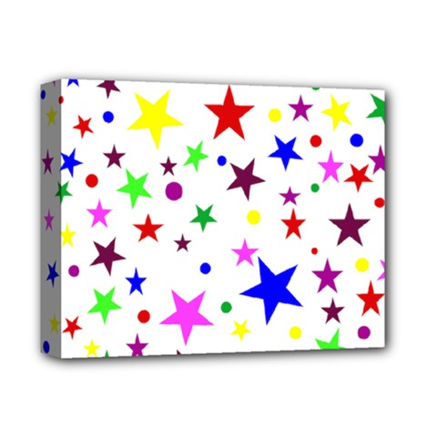 Stars Pattern Background Colorful Red Blue Pink Deluxe Canvas 14  X 11