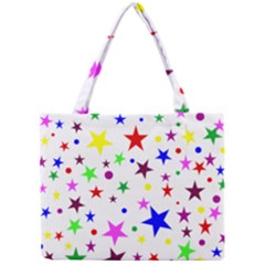Stars Pattern Background Colorful Red Blue Pink Mini Tote Bag