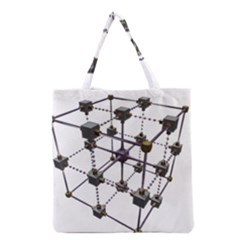 Grid Construction Structure Metal Grocery Tote Bag