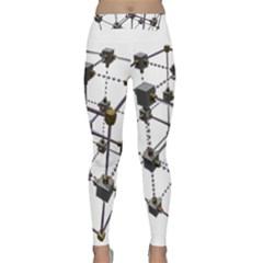 Grid Construction Structure Metal Classic Yoga Leggings