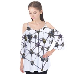 Grid Construction Structure Metal Flutter Tees by Nexatart
