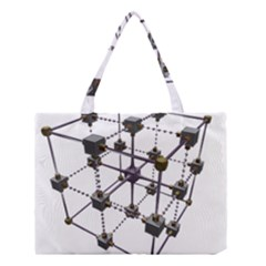 Grid Construction Structure Metal Medium Tote Bag by Nexatart