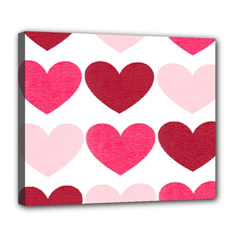 Valentine S Day Hearts Deluxe Canvas 24  x 20