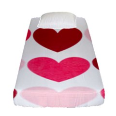 Valentine S Day Hearts Fitted Sheet (single Size)
