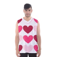 Valentine S Day Hearts Men s Basketball Tank Top by Nexatart