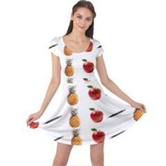 Ppap Pen Pineapple Apple Pen Cap Sleeve Dresses
