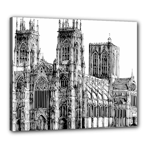 York Cathedral Vector Clipart Canvas 24  X 20