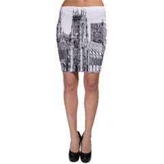 York Cathedral Vector Clipart Bodycon Skirt