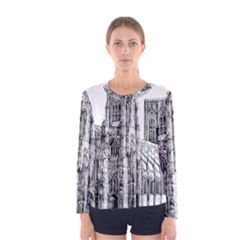 York Cathedral Vector Clipart Women s Long Sleeve Tee