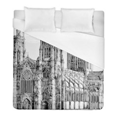 York Cathedral Vector Clipart Duvet Cover (Full/ Double Size)