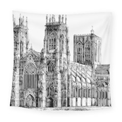 York Cathedral Vector Clipart Square Tapestry (large)