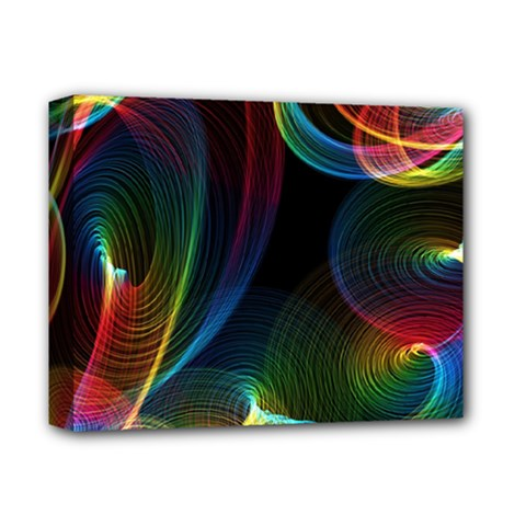 Abstract Rainbow Twirls Deluxe Canvas 14  X 11