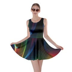 Abstract Rainbow Twirls Skater Dress