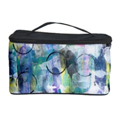 Background Color Circle Pattern Cosmetic Storage Case by Nexatart