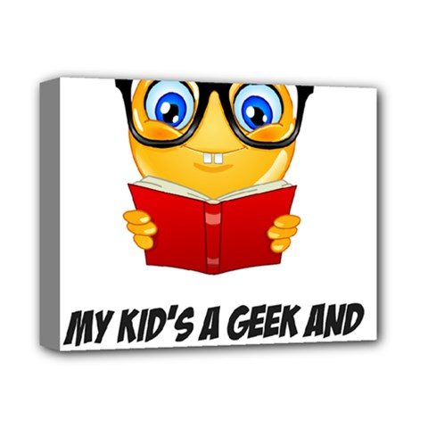 Geek Kid Deluxe Canvas 14  X 11  by athenastemple