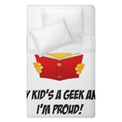 Geek Kid Duvet Cover (Single Size) by athenastemple