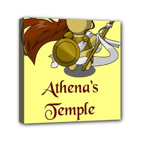 Athena s Temple Mini Canvas 6  X 6  by athenastemple