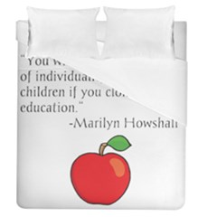 Fruit Of Education Duvet Cover (queen Size) by athenastemple
