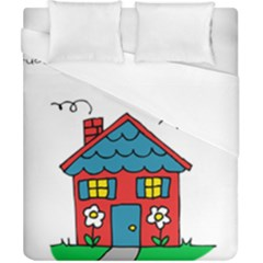 No School Greater    Duvet Cover (california King Size) by athenastemple