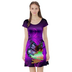 Violet Fairy Short Sleeve Skater Dress by tonitails
