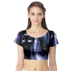 1474578215458 Short Sleeve Crop Top (tight Fit)