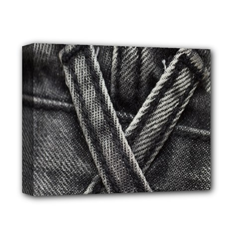 Backdrop Belt Black Casual Closeup Deluxe Canvas 14  X 11