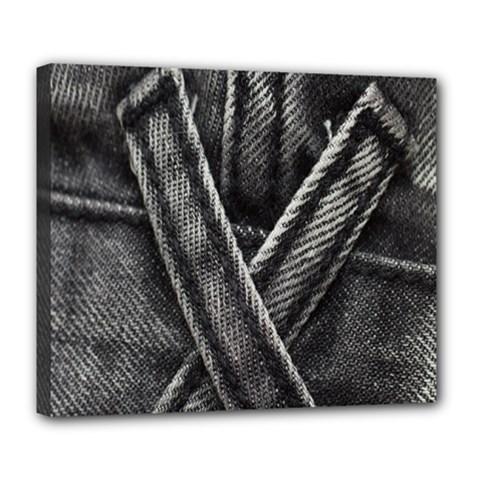 Backdrop Belt Black Casual Closeup Deluxe Canvas 24  X 20