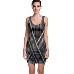 Backdrop Belt Black Casual Closeup Sleeveless Bodycon Dress