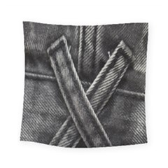 Backdrop Belt Black Casual Closeup Square Tapestry (small) by Nexatart