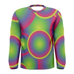 Background Colourful Circles Men s Long Sleeve Tee