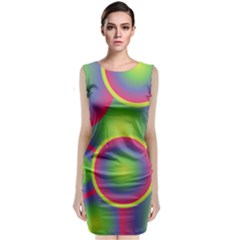 Background Colourful Circles Classic Sleeveless Midi Dress
