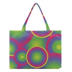 Background Colourful Circles Medium Tote Bag by Nexatart