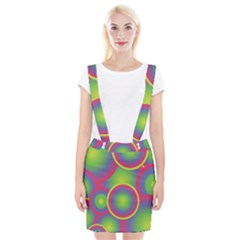 Background Colourful Circles Suspender Skirt