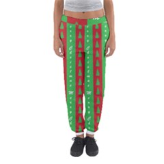 Christmas Tree Background Women s Jogger Sweatpants