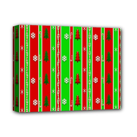 Christmas Paper Pattern Deluxe Canvas 14  X 11