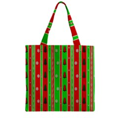 Christmas Paper Pattern Zipper Grocery Tote Bag by Nexatart