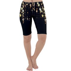 Christmas Star Advent Background Cropped Leggings